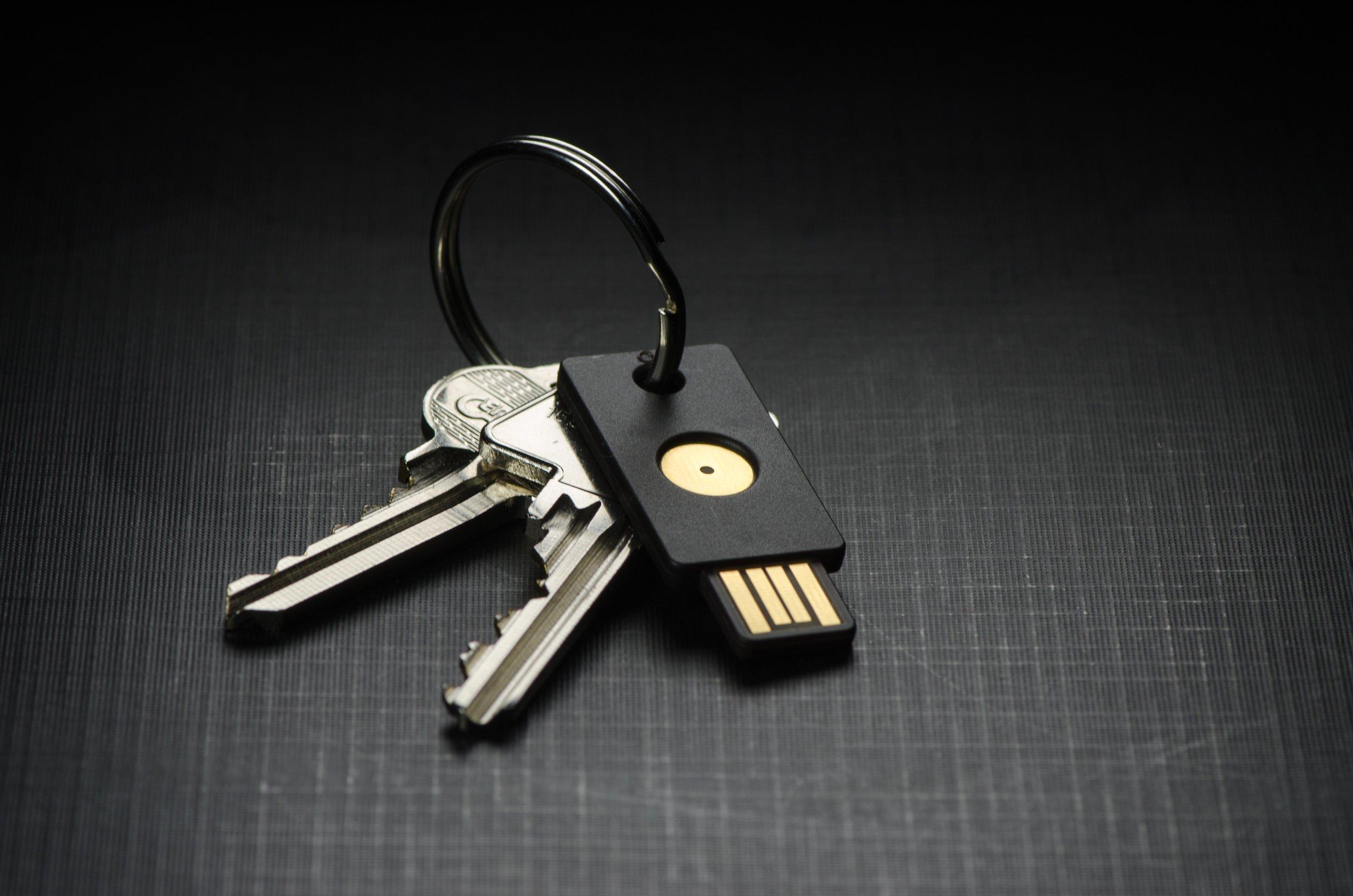 YubiKey Standard am Schlüsselbund - Quelle: Yubico
