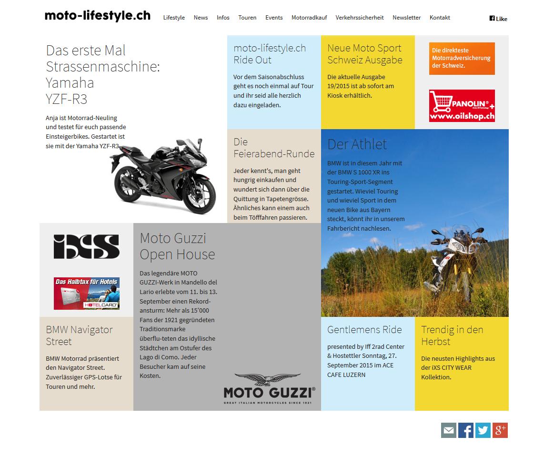 Screenshot der Neos-Website von moto-lifestyle.ch