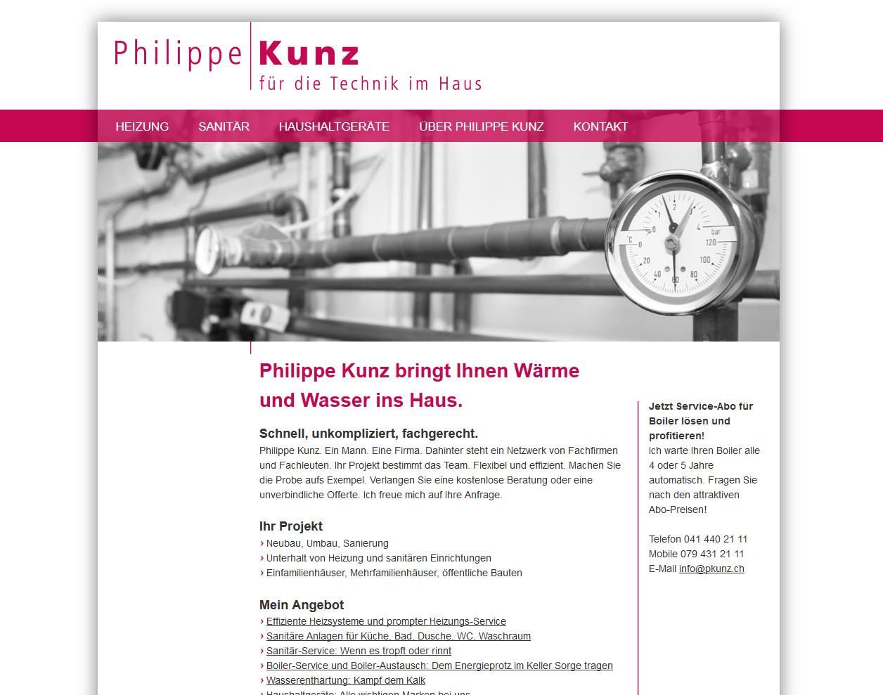 Screenshot der Neos-Website von Philippe Kunz